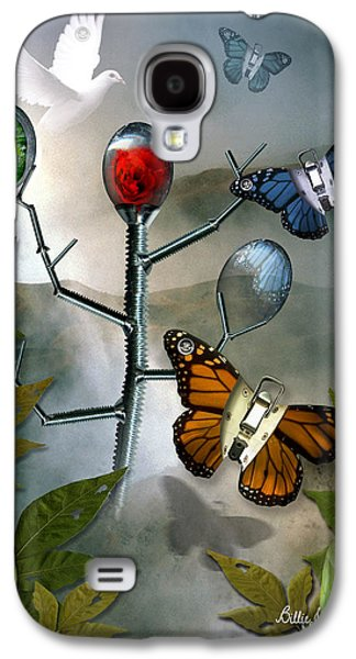 Surreal Landscape Galaxy S4 Cases - Winged Metamorphose Galaxy S4 Case by Billie Jo Ellis