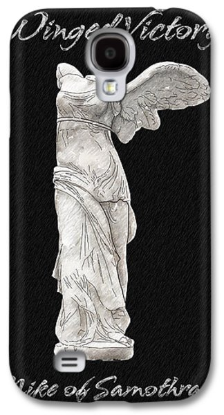 Statue Portrait Drawings Galaxy S4 Cases - Winged Victory - Nike of Samothrace Galaxy S4 Case by Jerrett Dornbusch