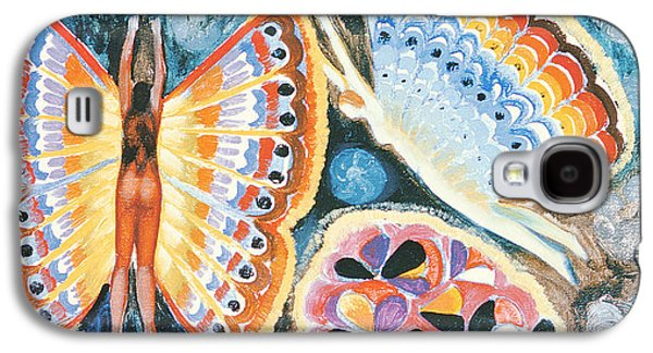 Folk Photographs Galaxy S4 Cases - Wings, 1979 Oil On Canvas Galaxy S4 Case by Radi Nedelchev