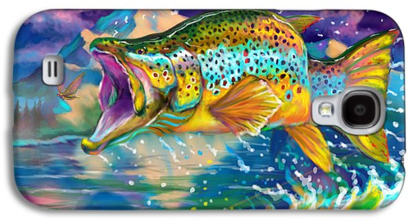 Rainbow Trout Galaxy S4 Cases - Wings And Fins  Galaxy S4 Case by Yusniel Santos