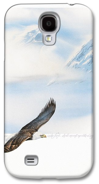 Eagle Paintings Galaxy S4 Cases - Wings As Eagles Galaxy S4 Case by Cliff Hawley