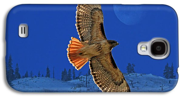 Red Tail Hawks Galaxy S4 Cases - Wings Galaxy S4 Case by Donna Kennedy