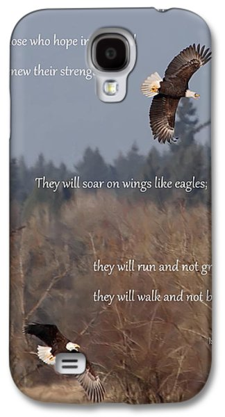 Bible Photographs Galaxy S4 Cases - Wings Like Eagles Galaxy S4 Case by Angie Vogel