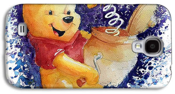 Winnie The Pooh And Honey Pot Galaxy S4 Case by Andrew Fling