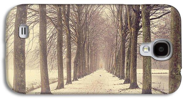 Snow Tree Prints Galaxy S4 Cases - Winter Alley in Rhoon. Holland Galaxy S4 Case by Jenny Rainbow