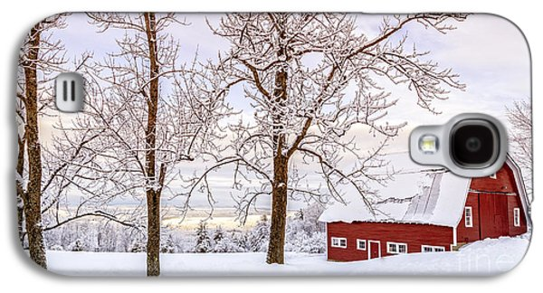 New England Barns Galaxy S4 Cases - Winter Arrives Galaxy S4 Case by Edward Fielding