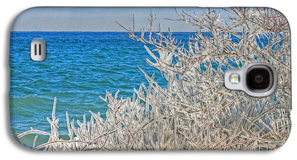 Landscapes Photographs Galaxy S4 Cases - Winter Beach Galaxy S4 Case by Michael Allen