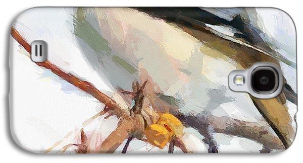 House Pet Digital Art Galaxy S4 Cases - Winter Bird 7 Galaxy S4 Case by Yury Malkov