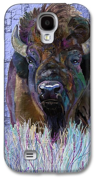 Recently Sold -  - Bison Digital Art Galaxy S4 Cases - Winter Bison Galaxy S4 Case by Marie Clark