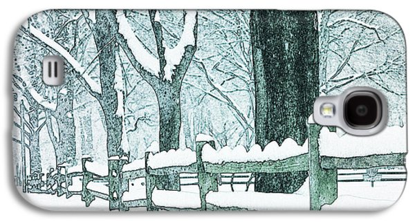 Split Rail Fence Galaxy S4 Cases - Winter Blues Galaxy S4 Case by John Stephens
