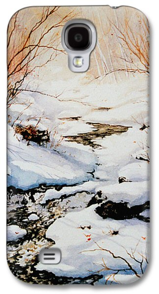 Snow Scene Landscape Paintings Galaxy S4 Cases - Winter Break Galaxy S4 Case by Hanne Lore Koehler