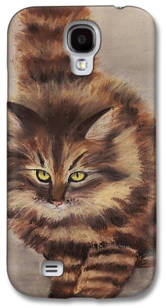 Anastasiya Malakhova Galaxy S4 Cases - Winter Cat Galaxy S4 Case by Anastasiya Malakhova