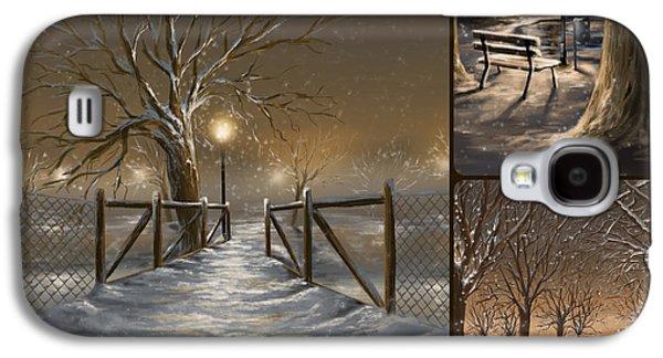 Winter Light Galaxy S4 Cases - Winter collage Galaxy S4 Case by Veronica Minozzi