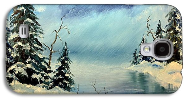 Storm Prints Pastels Galaxy S4 Cases - Winter Creek Galaxy S4 Case by Royce Van Over