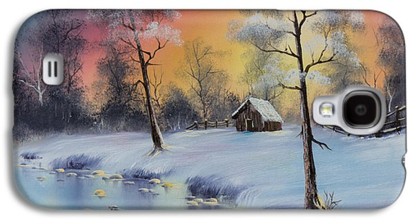 Recently Sold -  - Bob Ross Paintings Galaxy S4 Cases - Winters Grace Galaxy S4 Case by C Steele