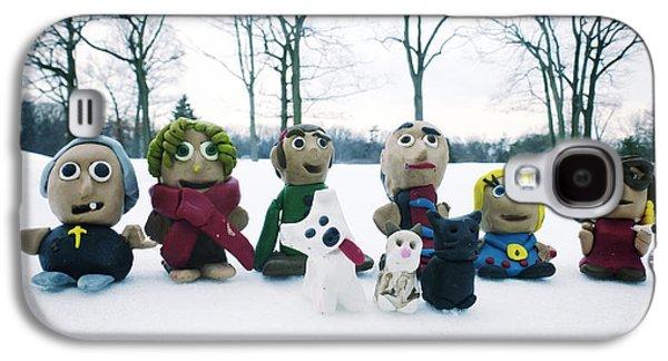Studio Sculptures Galaxy S4 Cases - Winter Fimo Family Galaxy S4 Case by Natasha Marco
