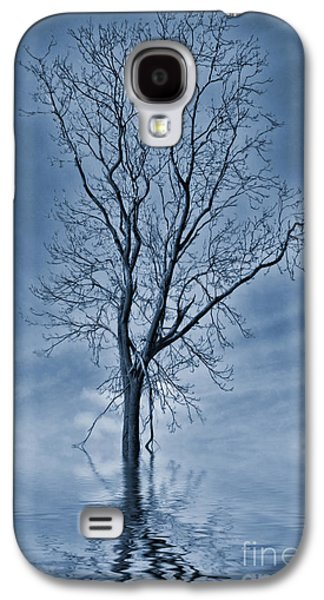 Floods Galaxy S4 Cases - Winter Floods Painting Galaxy S4 Case by John Edwards