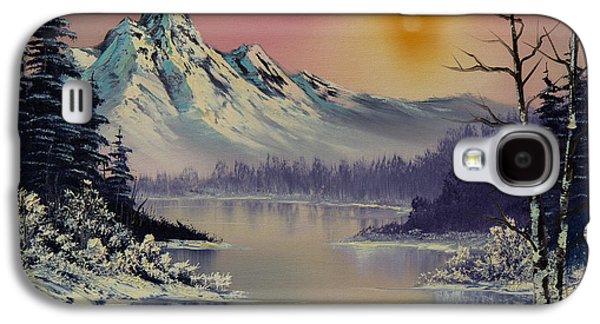 Recently Sold -  - Bob Ross Paintings Galaxy S4 Cases - Morning Frost Galaxy S4 Case by C Steele