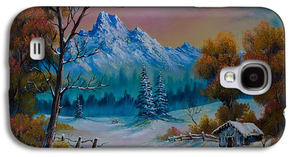 Bob Ross Paintings Galaxy S4 Cases - Winter Den Galaxy S4 Case by C Steele