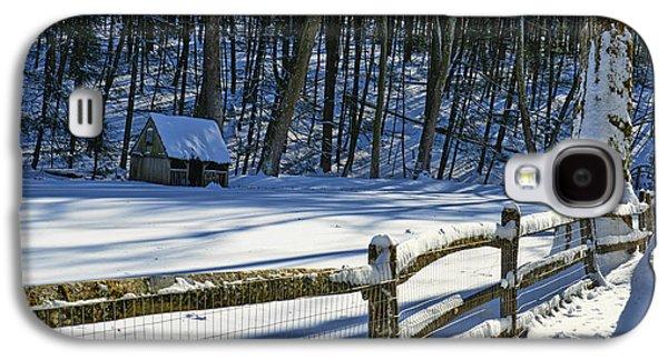 Winter Road Scenes Galaxy S4 Cases - Winter Hut Galaxy S4 Case by Paul Ward