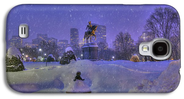Winter In Boston - George Washington Monument - Boston Public Garden Galaxy S4 Case by Joann Vitali