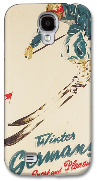Sports Drawings Galaxy S4 Cases - Winter in Germany Galaxy S4 Case by H Plessen