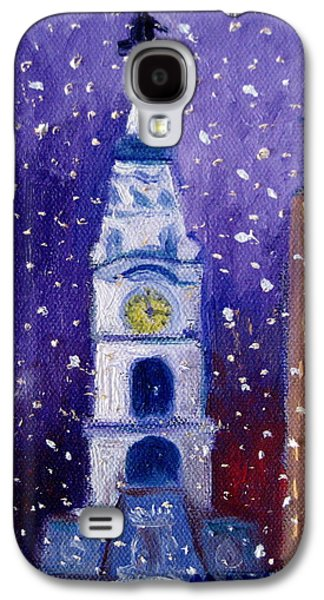 Phillies Paintings Galaxy S4 Cases - Winter In Philly Galaxy S4 Case by Marita McVeigh