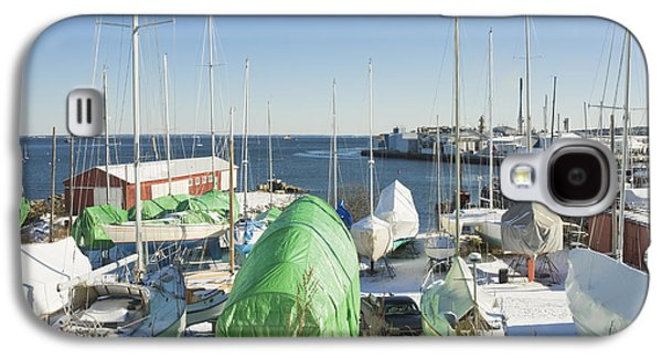 Maine Winter Galaxy S4 Cases - Winter in Rockland Maine Galaxy S4 Case by Keith Webber Jr