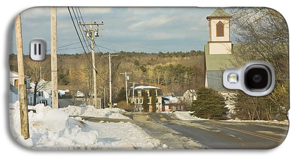 Old Country Roads Photographs Galaxy S4 Cases - Winter In Round Pond Maine Galaxy S4 Case by Keith Webber Jr