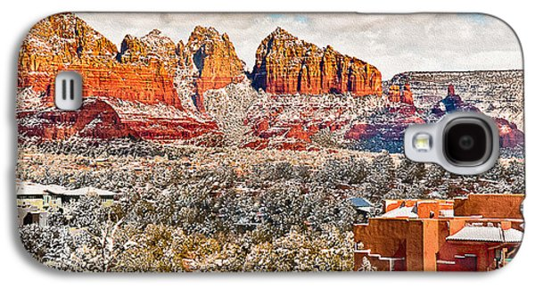 Mystical Landscape Mixed Media Galaxy S4 Cases - Winter in Sedona Arizona 2 Galaxy S4 Case by  Bob and Nadine Johnston