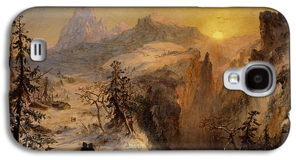 Setting Sun Galaxy S4 Cases - Winter in Switzerland Galaxy S4 Case by Jasper Francis Cropsey