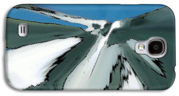 Snow-covered Landscape Digital Art Galaxy S4 Cases - Winter In The Mountains Galaxy S4 Case by Ben and Raisa Gertsberg