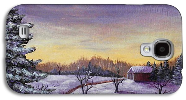 Peaceful Galaxy S4 Cases - Winter in Vermont Galaxy S4 Case by Anastasiya Malakhova