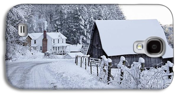 Barns In Snow Galaxy S4 Cases - Winter in Virginia Galaxy S4 Case by Benanne Stiens