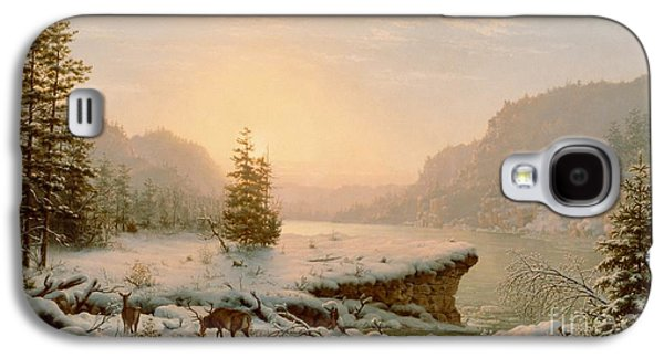 Snow-covered Landscape Galaxy S4 Cases - Winter Landscape Galaxy S4 Case by Mortimer L Smith