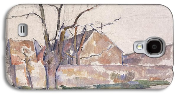 Snowy Day Paintings Galaxy S4 Cases - Winter Landscape Galaxy S4 Case by Paul Cezanne