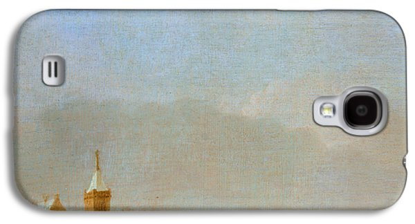 Sledge Galaxy S4 Cases - Winter Landscape With Skaters Oil On Panel Galaxy S4 Case by Adriaen van de Velde