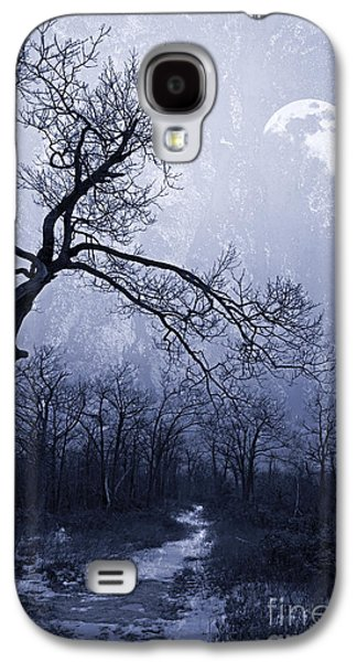 Gnarly Galaxy S4 Cases - Winter Moonlight Blues Galaxy S4 Case by John Stephens