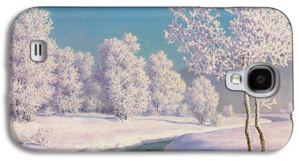 Slush Galaxy S4 Cases - Winter Morning in Engadine Galaxy S4 Case by Ivan Fedorovich Choultse
