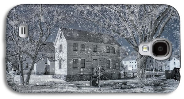 New England Snow Scene Galaxy S4 Cases - Winter Morning - Strawbery Banke - Portsmouth NH Galaxy S4 Case by Joann Vitali