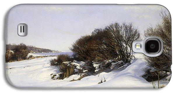Winter Wonderland Galaxy S4 Cases - Winter Near the Sea Galaxy S4 Case by Janus la Cour