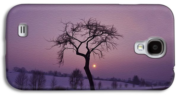 Winter Digital Art Galaxy S4 Cases - Winter Night Galaxy S4 Case by Aged Pixel