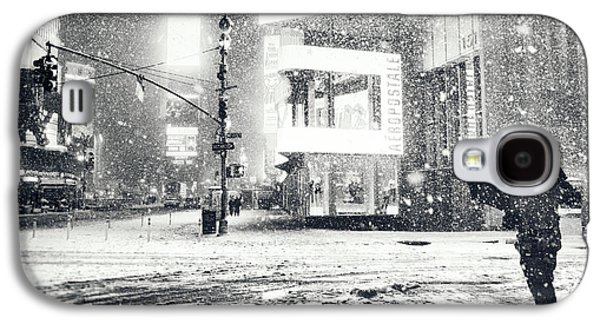 Winter Night Galaxy S4 Cases - Winter Night - Times Square - New York City Galaxy S4 Case by Vivienne Gucwa