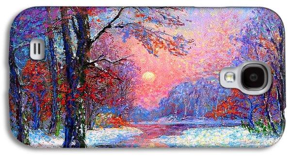 Winter Nightfall, Snow Scene  Galaxy S4 Case by Jane Small