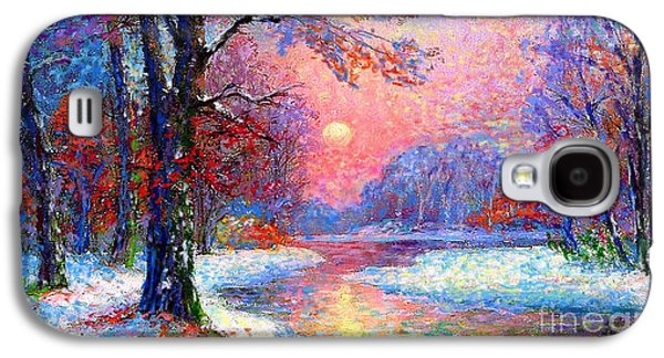 Winter Nightfall, Snow Scene  Galaxy S4 Case by Jane Small
