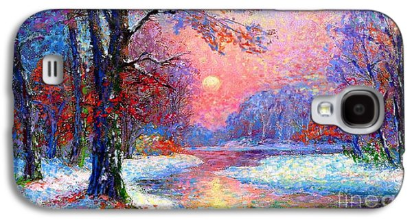 Snowy Night Night Galaxy S4 Cases - Winter Nightfall Galaxy S4 Case by Jane Small