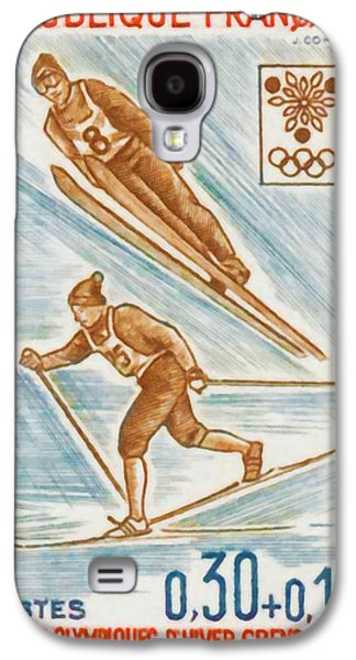 Skiing Posters Paintings Galaxy S4 Cases - WINTER OLYMPICS xed GRENOBLE 1968 Galaxy S4 Case by Lanjee Chee