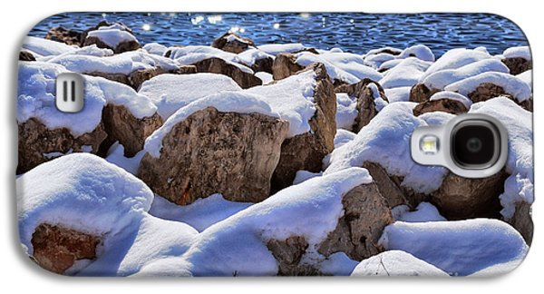 Appleton Photographs Galaxy S4 Cases - Winter On The Rocks Galaxy S4 Case by Shutter Happens Photography