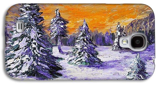 Town Galaxy S4 Cases - Winter Outlook Galaxy S4 Case by Anastasiya Malakhova
