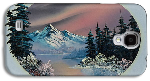 Bob Ross Paintings Galaxy S4 Cases - Winter Tranquility Galaxy S4 Case by C Steele
